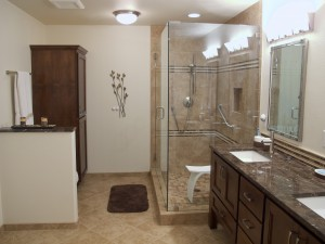 Bathroom Remodel with Glass Shower Stall