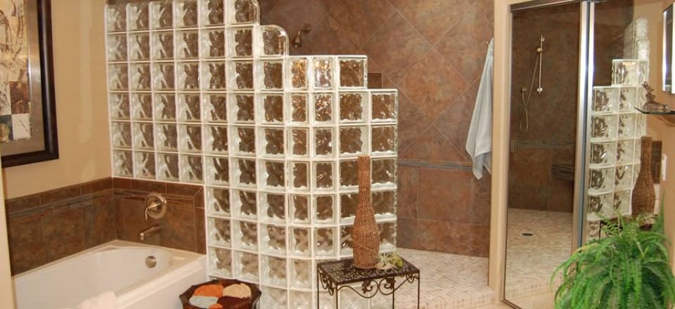 Glass Block Shower Stall