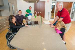 A kitchen remodel to accommodate special needs
