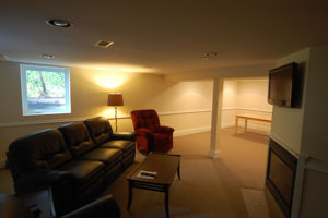 basement remodeling project after image in Vancouver WA