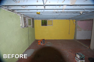 basement remodeling project before in Vancouver WA