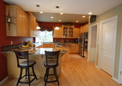 3CM Granite-Countertops with Tile Backsplash