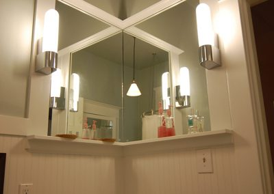 Bathroom Remodel Vanity with Bead Board Trim
