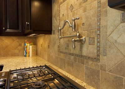 Custom Mosaic Tile Backsplash
