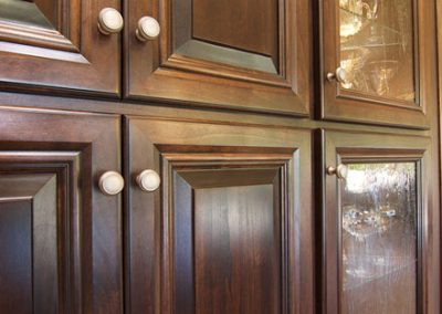 Custom Pantry with Art Deco Glass Inserts