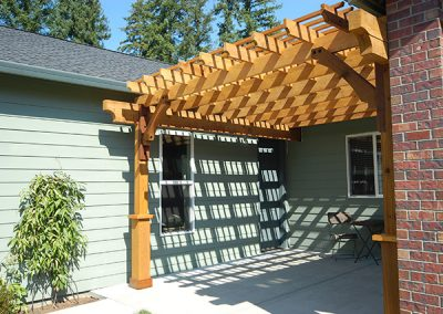 Custom Pergola Side View