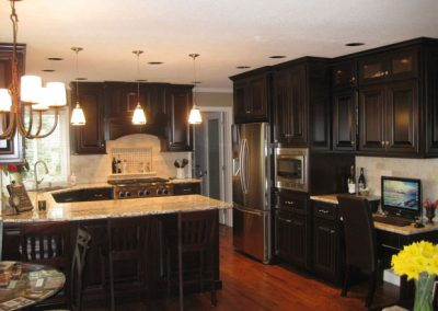 Dark Kitchen Cabinet Remodel After