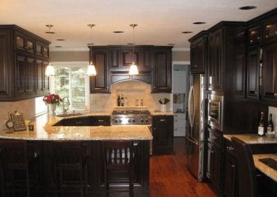 Dark Kitchen Cabinet Remodel Full View