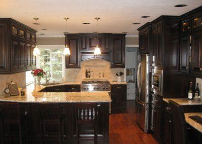 Dark Kitchen Cabinet Remodel Full View