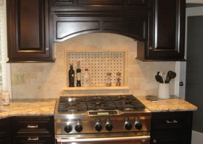Dark Kitchen Cabinet Remodel Stovetop