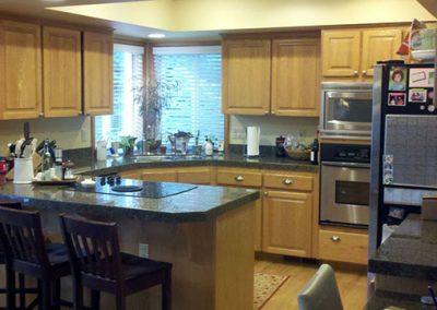 Dark Kitchen Cabinets Before