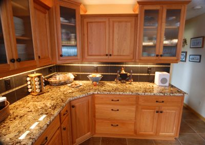 Granite Countertops with Tile Backsplash