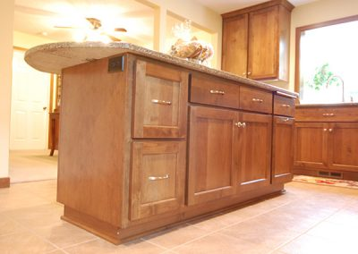 Stained Alder Cabinet Island