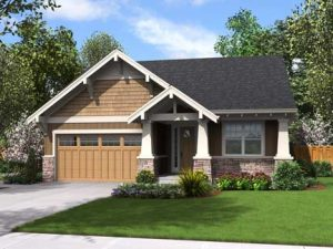 Quail Cottage Latte New Home Front Rendering