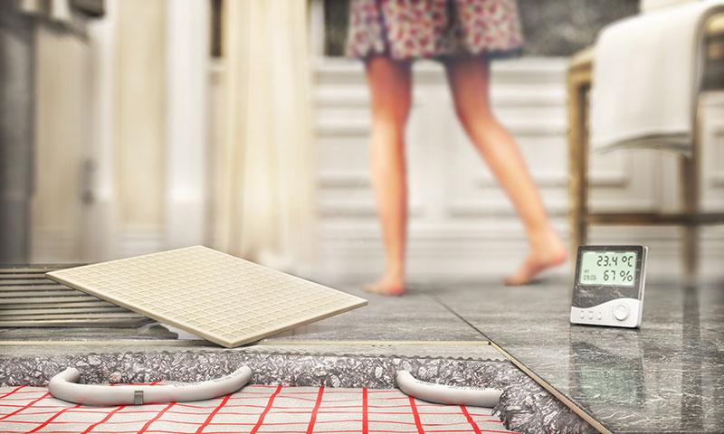 heated flooring Designers Northwest