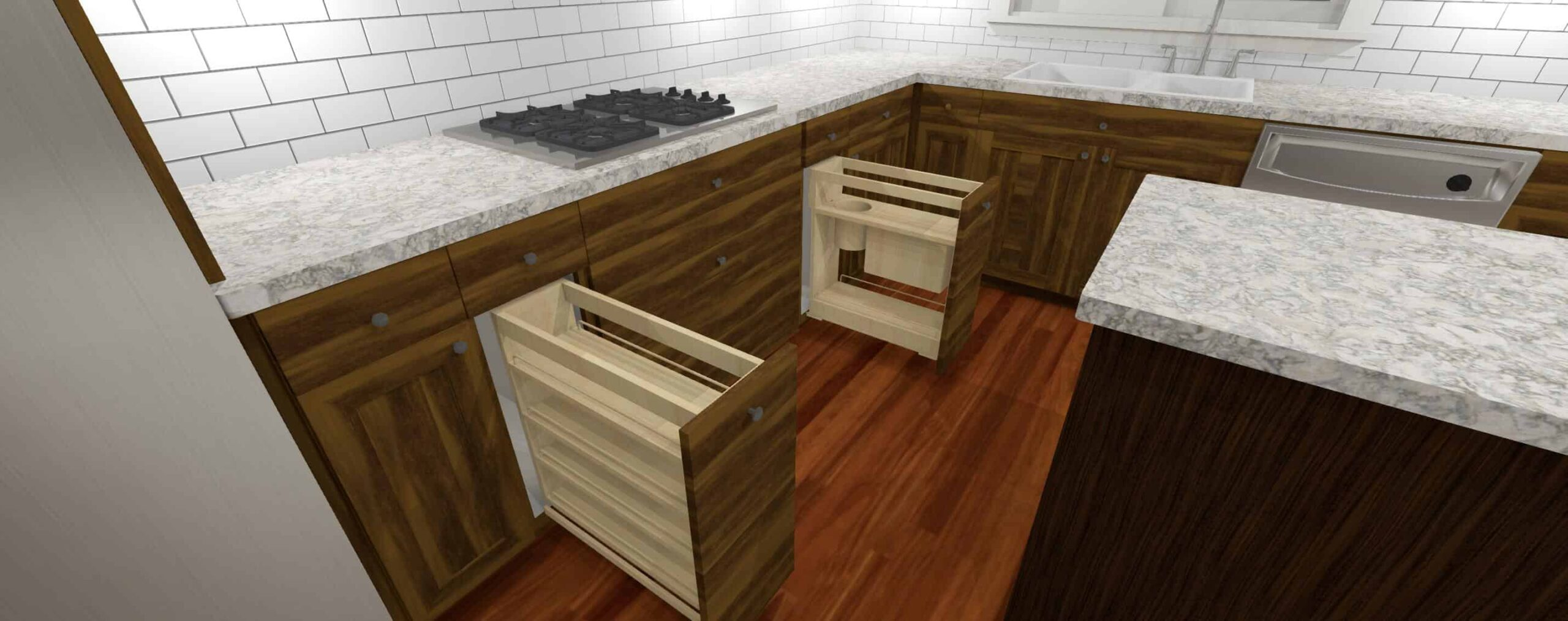 3D Model of a cooktop cabinets - Designers Northwest