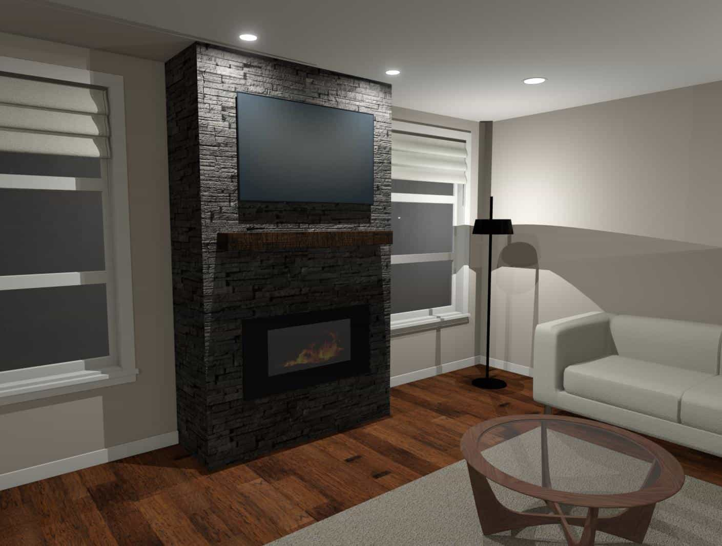 3D Model of a Fireplace - Designers Northwest