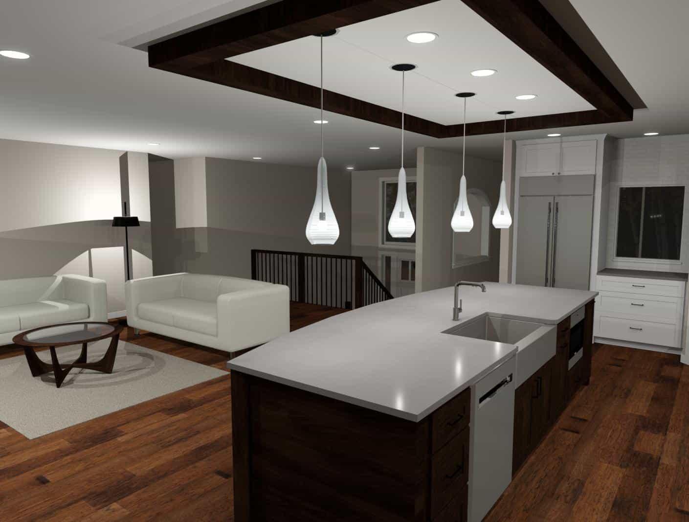 3D Model of a kitchen island - Designers Northwest
