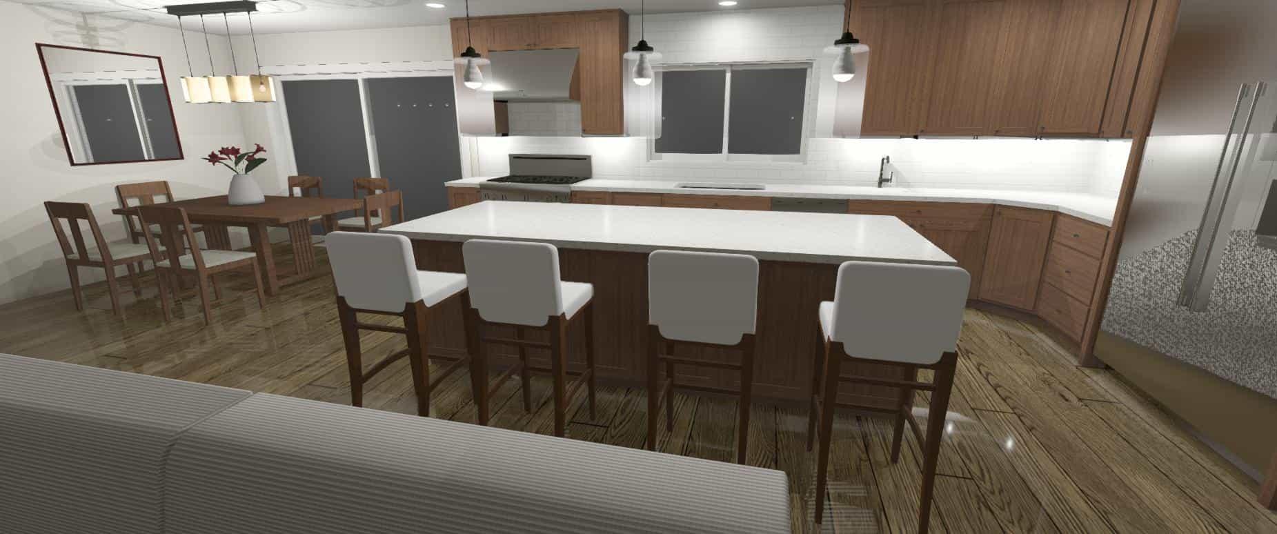 3D Model of a Kitchen - Designers Northwest