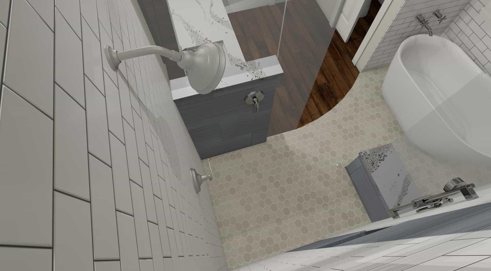 3D Model of a shower - Designers Northwest