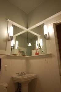 Bathroom Remodel Vanity with Bead Board Trim